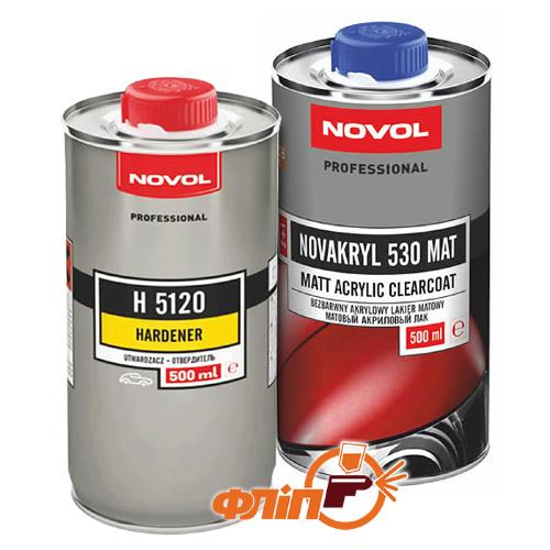 Novol NOVAKRYL 530 Mat 0.5л + отвердитель 0.5л фото
