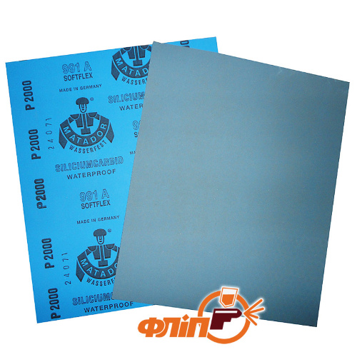 APP Matador 991 P1500 - бумага абразивная водостойкая фото