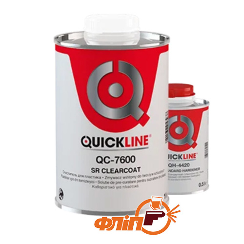 Лак QuickLine QS-7600 HS Antiscratch (1л) + Отвердитель 4410 фото