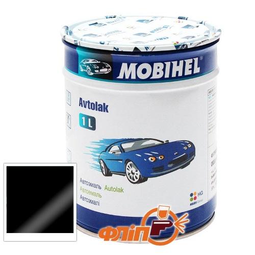 Mobihel 601 Глубоко-черная, 1л – автоэмаль алкидная фото