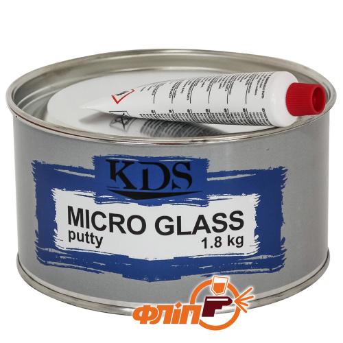 KDS Micro GLASS Шпатлевка со стекловолокном 1.8кг фото