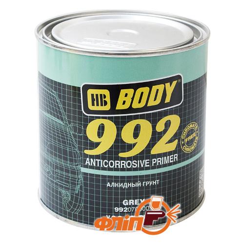 BODY 992 1К антикоррозионный грунт серый 1кг фото