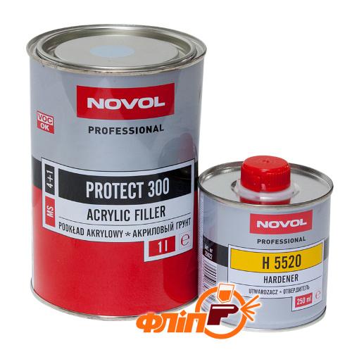 Novol PROTECT 300 MS 4+1 грунт акриловый черный 1л фото
