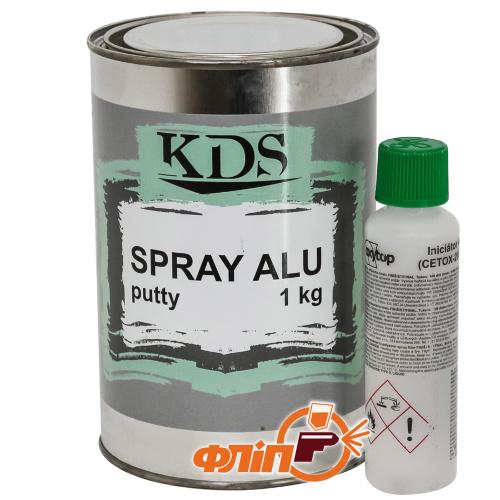 KDS SPRAY ALU Шпатлевка жидкая с алюминием 1кг фото