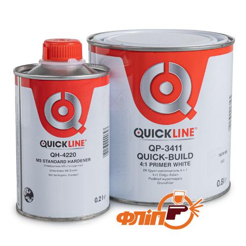 Грунт 2К Quickline QP-3411, белый, 800мл фото