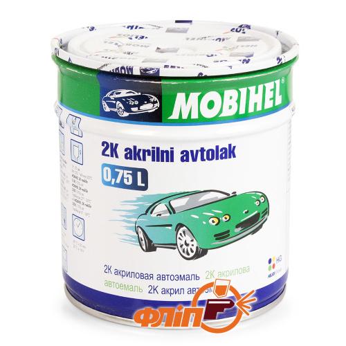 Mobihel 601 - автоэмаль акриловая глубоко-черная, 0.75 л фото