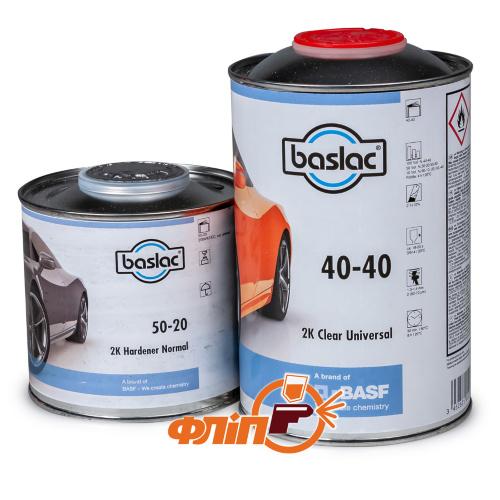 Baslac 40-40 HS Лак универсальный 1л + отвердитель (0.5л) фото