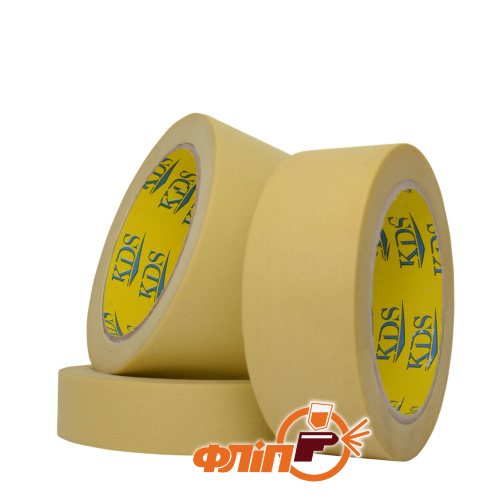 KDS 24мм*36м скотч малярный желтый 80°С фото