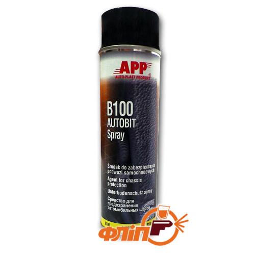 APP B100 Autobit средство для защиты шасси в аэрозоле, 0.5л фото