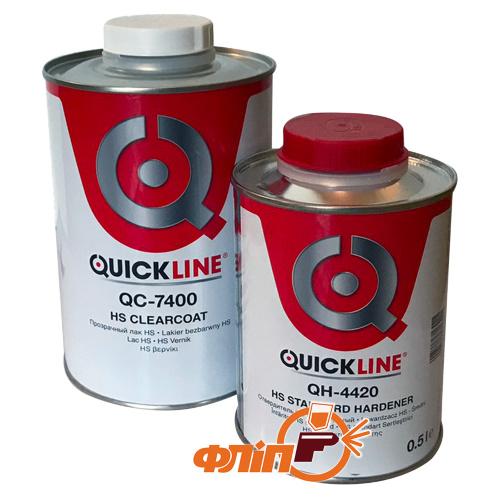 QuickLine HS QC-7400 Прозрачный лак 1л (комплект) фото