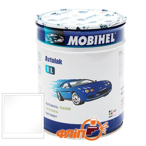 Mobihel 202 снежно-белая, 1л - автоэмаль алкидная фото