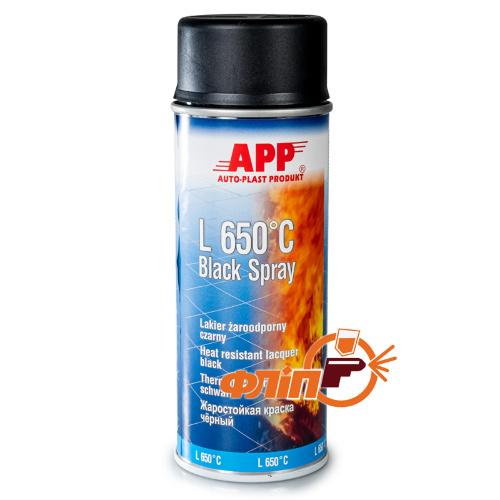 APP 210431 Краска жаростойкая L 650°С spray 400мл черная фото
