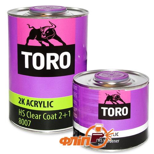 Toro 2К HS 8007 акриловый  лак 1л + отвердитель фото