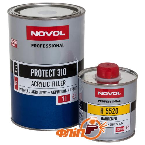 Novol PROTECT 310 HS 4+1 грунт акриловый черный 1л + активатор фото