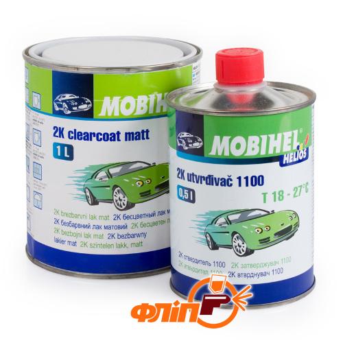 Mobihel 2К HS акриловый матовый лак (1л) + отвердитель 1100 (0,5л) фото