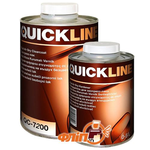 QuickLine QC-7200 MS лак прозрачный 1л + отвердитель MC QuickLine фото