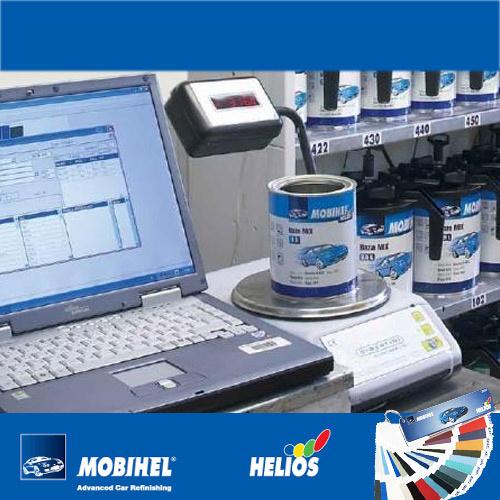 Подбор по коду и колеровка автоэмалей Helios Mobihel фото
