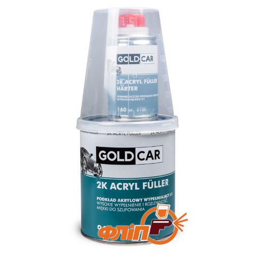 GOLDCAR Грунт акриловый 2K 5:1 серый 960мл фото