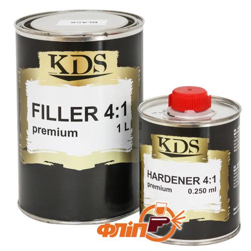 KDS Filler Premium акриловый грунт серый 4:1, 1л фото